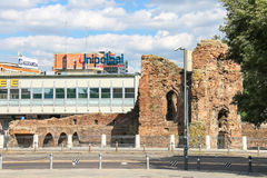 The ruins an area of 20 September in Bologna, Italy. Bologna, Italy - August 18, 2014: The ruins an area of 20 September in Bologna, Italy Royalty Free Stock Images
