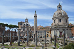 Ruins around Trajan Market. Stock Photography