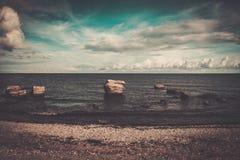 Ruins of artillery coast battery on Saaremaa Stock Photo