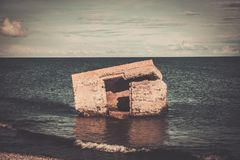 Ruins of artillery coast battery on Saaremaa Royalty Free Stock Images
