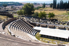 Ruins of Asclepeion Theatre in Pergamon Royalty Free Stock Photography