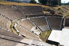 Ruins of Asclepeion Theatre in Pergamon Stock Image