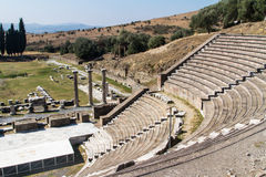 Ruins of Asclepeion Theatre in Pergamon Stock Photography