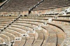 Ruins of Asclepeion Theatre in Pergamon Stock Photo