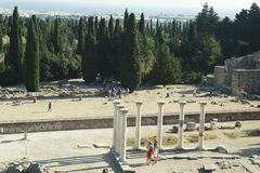Ruins of Asklepion in Kos Stock Photos