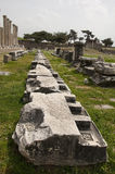 The ruins of Asklepion in Pergamum(Pergamon),Bergama,Turkey. Asklepion is ancient healing center in Pergamum,which built in honour of Asklepius-God of healing Stock Photos