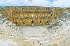 The ruins of Aspendos Amphitheater Royalty Free Stock Images