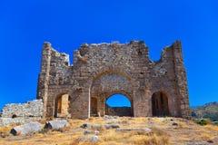 Ruins at Aspendos in Antalya, Turkey Stock Photo