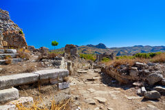 Ruins at Aspendos in Antalya, Turkey Royalty Free Stock Photos
