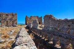 Ruins at Aspendos in Antalya, Turkey Stock Photos