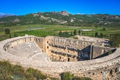 Ruins of Aspendos theatre Stock Photography