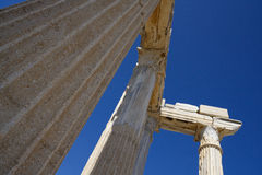 Ruins of Athena temple in Side Turkey on the coast Royalty Free Stock Images