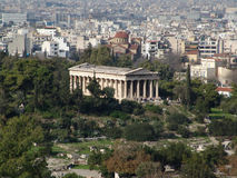 Ruins in athens. Archeological rest in Athens greece Stock Photos