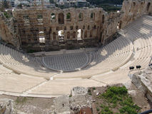 Ruins in athens Royalty Free Stock Image
