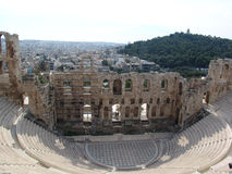 Ruins in athens Royalty Free Stock Images