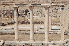 Ruins in Athens. Ancient buildings stock images