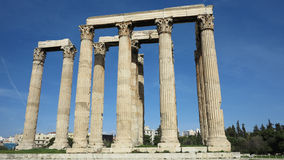 Ruins in athens greece Royalty Free Stock Photos