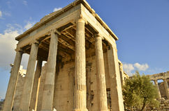 Ruins of Athens. Ruins in Athens include the Acropolis, Parthenon, Temple of Zeus. This was the seat of power in the ancient Greek, Empire, and is the modern Royalty Free Stock Photos