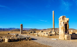 Ruins at Audience Palace in Pasargadae, Iran Royalty Free Stock Images