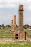 Ruins of the Auschwitz II -Birkenau Extermination camp Royalty Free Stock Photography