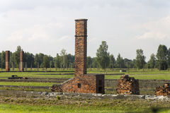 Ruins of the Auschwitz II -Birkenau Extermination camp Royalty Free Stock Image