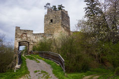 Ruins of austrian castle Royalty Free Stock Image
