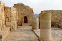 Ruins of Avdat - ancient town founded and inhabited by Nabataeans in  Negev  desert Stock Photography