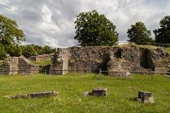 Ruins of the Aventicum theatre Stock Photo