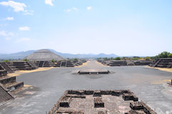 Ruins Avenue of the Dead, Teotihuacan, Mexico Stock Photo