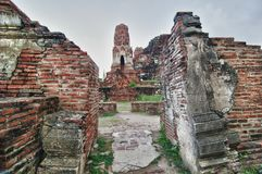 Ruins from Ayuthaya Stock Image