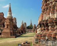Ruins of Ayutthaya. Ancient capital of Thailand Stock Photography