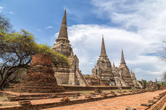 Ruins of Ayutthaya. Temple in Ayutthaya province, Thailand, UNESCO Royalty Free Stock Image