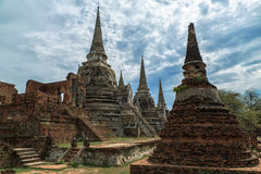 Ruins of Ayutthaya. Temple in Ayutthaya province, Thailand, UNESCO Stock Photo