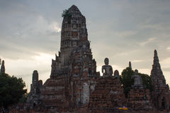 Ruins of Ayutthaya, Thailand. Has a beautiful object Stock Image