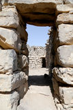 Ruins of Azraq Castle,  central-eastern Jordan, 100 km east of Amman Stock Images