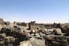 Ruins of Azraq Castle,  central-eastern Jordan, 100 km east of Amman Royalty Free Stock Photo