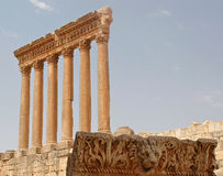 Ruins_baalbeck Royalty Free Stock Images