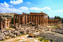 Ruins of Bacchus temple. Baalbek, Lebanon Stock Images