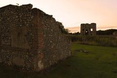 Ruins of Baconsthorpe castle at sunset, Norfolk, England, United Kingdom Royalty Free Stock Images