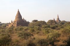Ruins of Bagan, Myanmar stock images