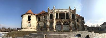 The ruins of Banffy Castle in Bontida, Cluj country. The ruins of Banffy Castle in Bontida in winter. Transylvania Romania royalty free stock image