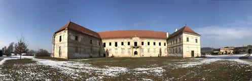 The ruins of Banffy Castle in Bontida, Cluj country. The ruins of Banffy Castle in Bontida in winter. Transylvania Romania royalty free stock images