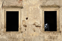 The ruins of Banffy Castle in Bontida, Romania Royalty Free Stock Photos