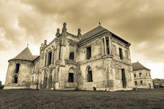 The ruins of  Banffy Castle  in Bontida Royalty Free Stock Photo