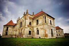 The ruins of  Banffy Castle in Bontida Royalty Free Stock Image