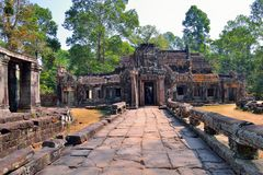 The ruins of Banteay Kdei Temple Royalty Free Stock Photo