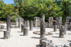 Ruins of the Baptistery in Butrint, Albania. royalty free stock photo