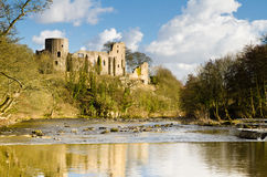 Ruins of Barnard Castle Stock Image