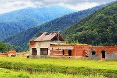 Ruins of barns Royalty Free Stock Photo