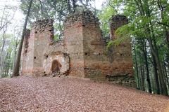 Ruins of the Baroque chapel of Saint Mary Magdalene Royalty Free Stock Photography